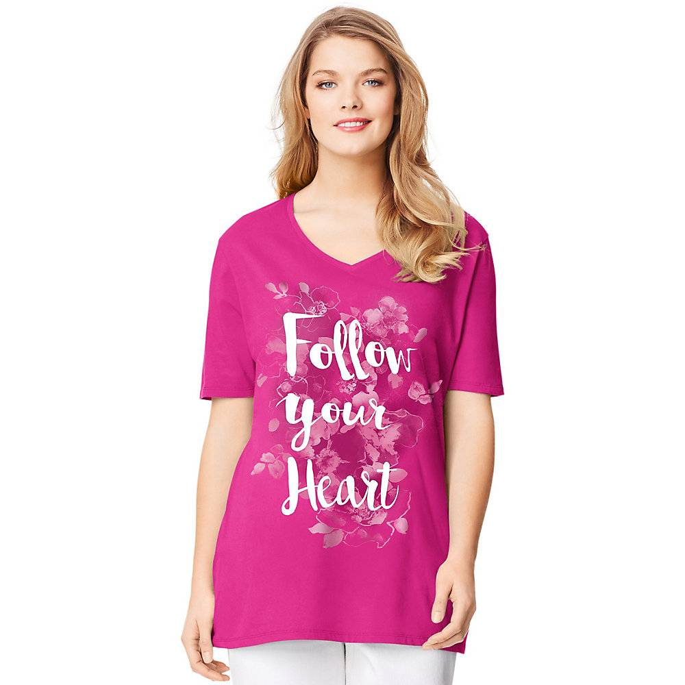 a550ceab616 Just My Size Short-Sleeve V-Neck Women s Graphic Tee - OJ181