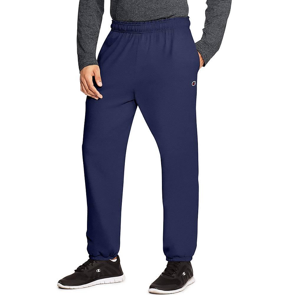 f00a279e844d Champion Authentic Men's Closed Bottom Jersey Pants