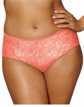 Coral Peach w/Coral Punch Lace Print
