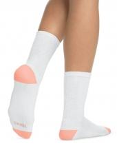 White w/Color Heel Toe