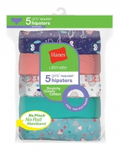 Hanes Ultimate Girls' Cotton Stretch Hipsters