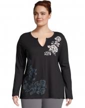 Over Shoulder Floral/Black
