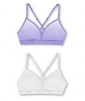 Salty Purple Gradient Dot Print/White