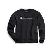Champion Men's Powerblend Crew, Script Logo