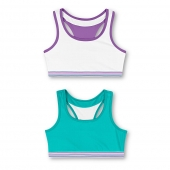 True Teal and White/White and Spring Purple