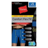 Hanes Men's Comfort Flex Fit Breathable Mesh Long Leg Boxer Briefs Bonus Pack
