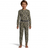 Hanes Boys' Waffle Knit Thermal Camo Set