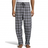 Hanes Men's Woven Stretch Plaid Pant