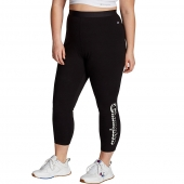 Champion Women's Plus Authentic 7/8 Leggings, Vertical Shadow Logo