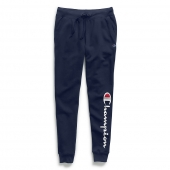 Champion Women's Powerblend and Fleece Joggers, Vertical Logo