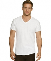 Hanes Men's Comfort Fit Ultra Soft Cotton/Modal V-Neck Undershirt 4-Pack