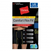 Hanes Men's Comfort Flex Fit and Breathable Mesh Boxer Briefs 4-Pack (includes 1 Free Bonus Boxer Brief)