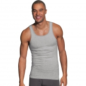 Hanes Men's FreshIQ and ComfortSoft and Dyed Black/Grey Tank Undershirt 5-Pack