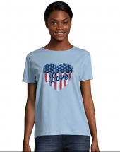 Light Blue/Stars & Stripes Heart