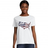 Hanes Women's Stripes of Pride Graphic Tee