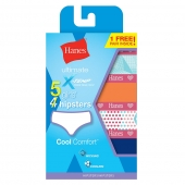 Hanes X-Temp and Girls Hipster 5-Pack (4 + 1 Free Bonus Pack)