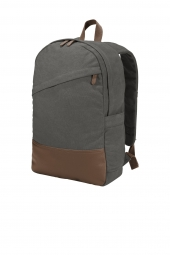 Port Authority Cotton Canvas Backpack. BG210
