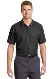 Red Kap Long Size, Short Sleeve Industrial Work Shirt. SP24LONG