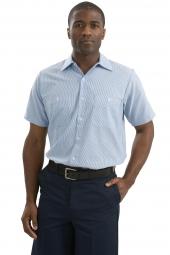 Red Kap Long Size, Short Sleeve Striped Industrial Work Shirt. CS20LONG
