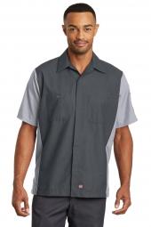Red Kap Short Sleeve Ripstop Crew Shirt. SY20