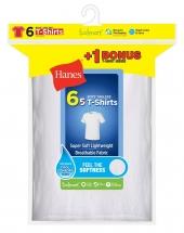 Hanes Boys' EcoSmart® Crewneck Undershirt 6-Pack (Includes 1 Free Bonus Undershirt)