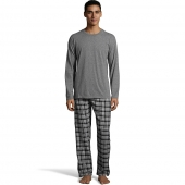 Hanes Men's Jersey Flannel Sleep Set Pant