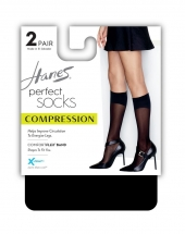 Hanes Perfect Geo Compression Socks 2-Pack