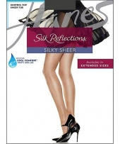 Hanes Silk Reflections Silky Sheer Control Top Sheer Toe 6-Pack