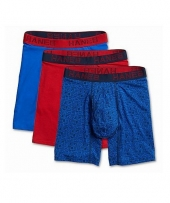Hanes Ultimate Men's Comfort Flex Fit® Cotton/Modal Boxer Briefs Assorted Colors 3-Pack
