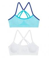 White/Aqua Heather/Navy