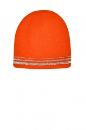 CornerStone CS804 Lined Enhanced Visibility with Reflective Stripes Beanie