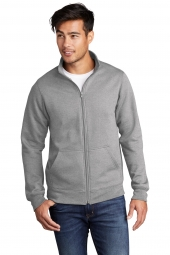 Port & Company PC78FZ Core Fleece Cadet Full-Zip Sweatshirt