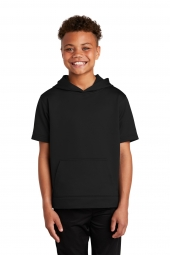 Sport-Tek YST251 Youth Sport-Wick Fleece Short Sleeve Hooded Pullover
