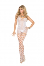 Elegant Moments Crochet Bodystocking With Open Crotch - 1656