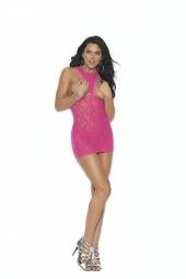 Elegant Moments Lace Cupless Mini Dress - 12012