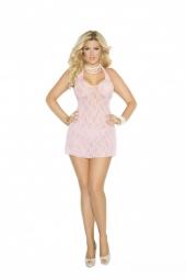 Elegant Moments Lace Halter Mini Dress - 1422