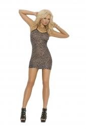 Elegant Moments Leopard Print Slip Style Mini Dress - 1496