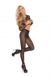 Elegant Moments Opaque Sheer To Waist Pantyhose With Cotton Crotch - 1777