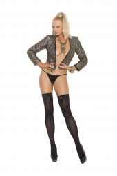 Elegant Moments Opaque Thigh High With Satin Bow - 1708