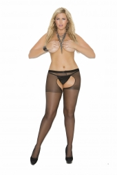 Elegant Moments Sheer Crotchless Pantyhose - 1726