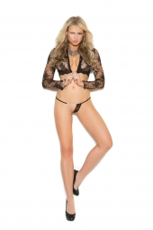 Elegant Moments 2473 Lace G-String With Chain Detail