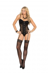 Elegant Moments 4140 Lace Bustier With Underwire Cups
