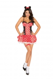 Elegant Moments 9130 Miss Mouse Costume - 3 Pc