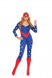 Elegant Moments 9144 American Hero Costume - 3 Pc