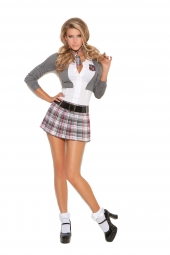 Elegant Moments 9153 Queen Of Detention Costume - 2 Pc