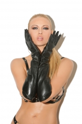Elegant Moments L9419 Long Leather Gloves