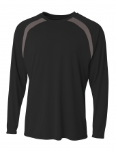 A4 N3003 Spartan Long Sleeve Color Block Crew For Adult Size Male