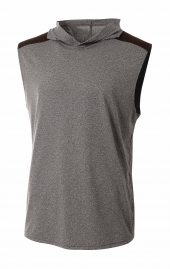 A4 N3031 Tourney Sleeveless Hooded Tee For Adult Size Male