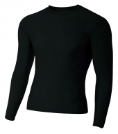 A4 N3133 Long Sleeve Compression Crew For Adult Size Male