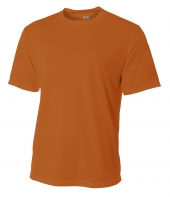 A4 N3252 Short Sleeve Birds-Eye Mesh Crew For Adult Size Male